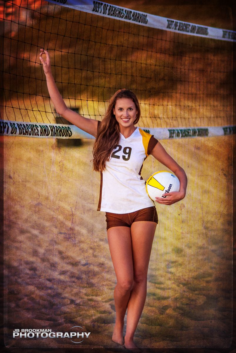 senior portraits sports look volleyball westlake