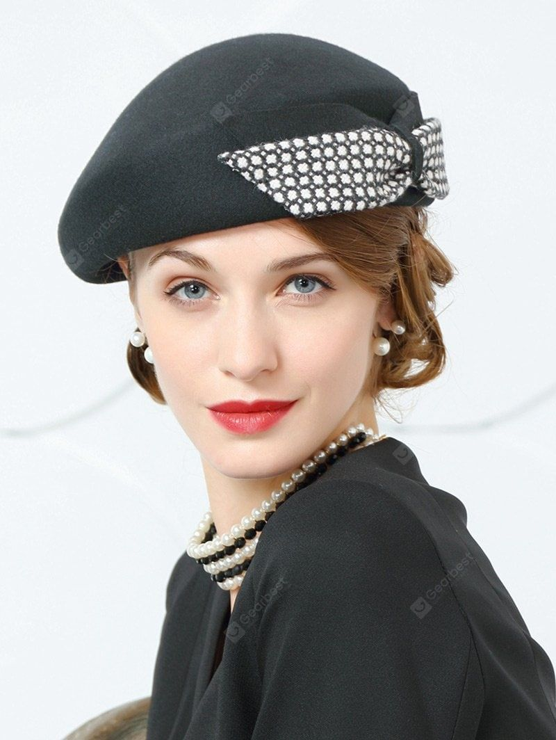 5a6bef027f72f Vintage Bowknot Embellished Formal Pillbox Hat in 2019