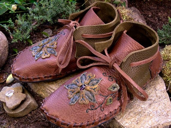 Custom Leather Moccasins Hand Crafted Leather by theleathervine