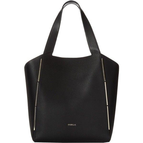 Furla Audrey Medium Tote North South Onyx Handbags 315