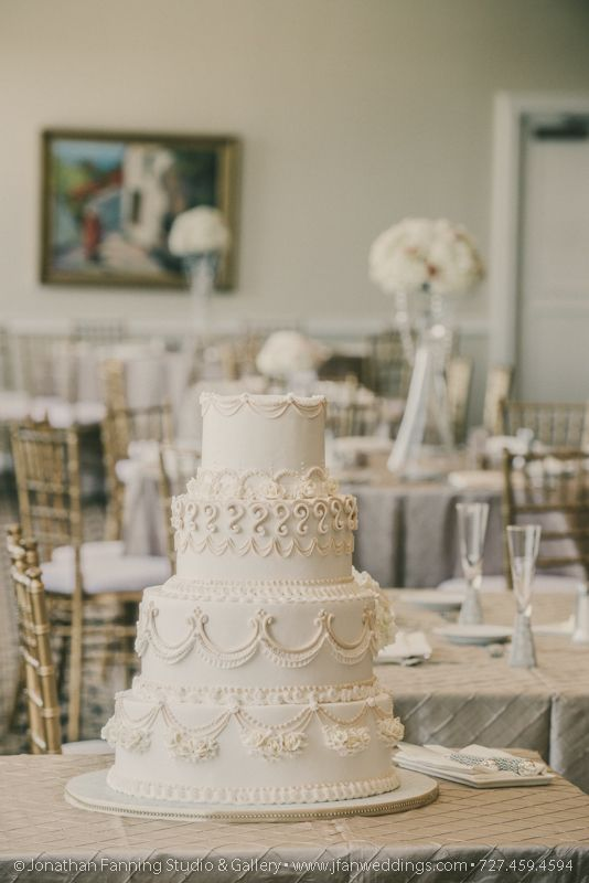 A Beautiful Blush Wedding Cake Made By Alessi Bakery In Tampa