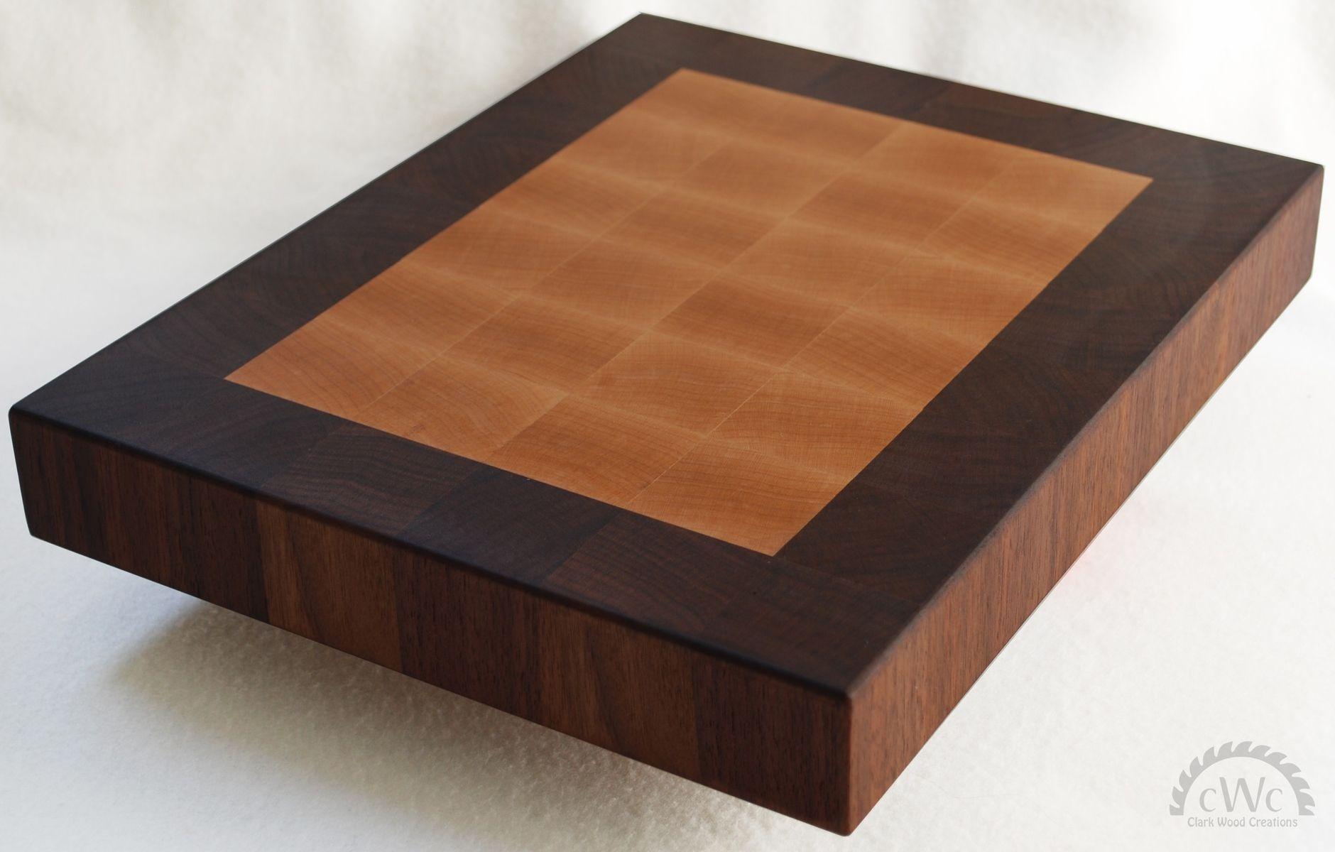Cutting Board Solid Walnut And Maple End Grain Butcher Block