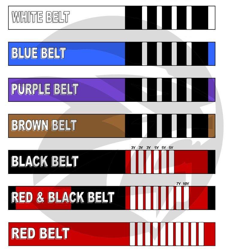 Brazilian Jiu-Jitsu belt chart   Living Jiu Jitsu   Jiu jitsu belts