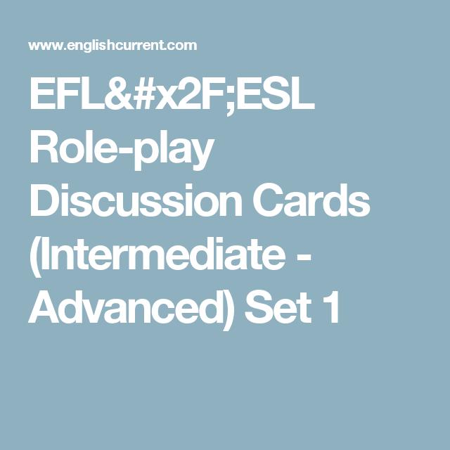 Efl X2f Esl Role Play Discussion Cards Intermediate Advanced Set 1 Esl Roleplay Negotiation Skills