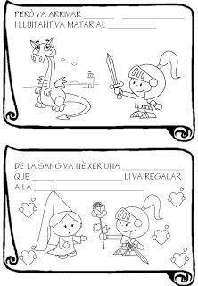 Educació Infantil Brimar: FITXES SANT JORDI | Jordi, Leyenda de ...