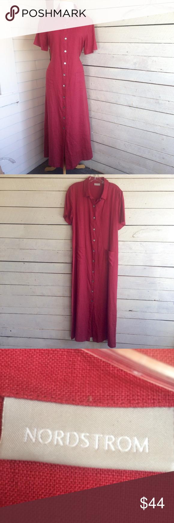 Nordstrom linen dress watermelon linen maxi dress short