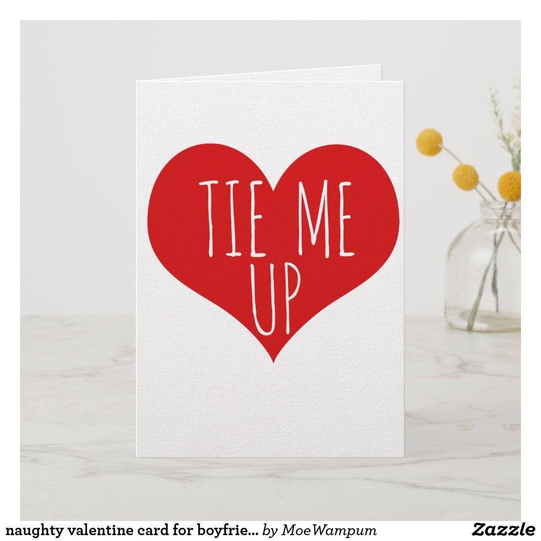 naughty valentine card for boyfriend TIE ME UP