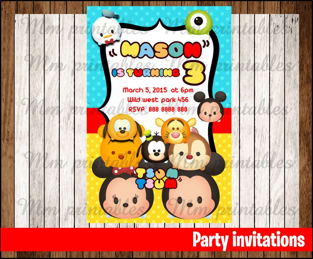 90ba2545d1bcd7b9581e9ce2282e0f99 tsum tsum birthday invitation, tsum tsum invitation, tsum tsum,Tsum Tsum Invitation