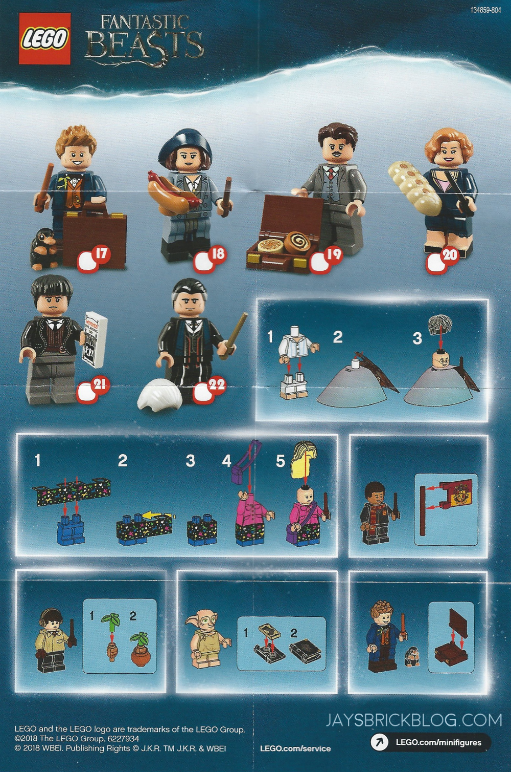 Review Lego Harry Potter And Fantastic Beasts Minifigures Jay S Brick Blog Mini Figures Lego Harry Potter Minifigures Lego Harry Potter