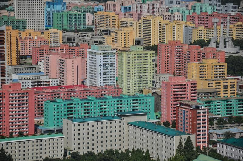 Pyongyang As Seen From The Juche Tower Pyongyang North Korea 09 07 2018 The Sponsored North Korea Tower Pyo Pyongyang North Korea Block Painting