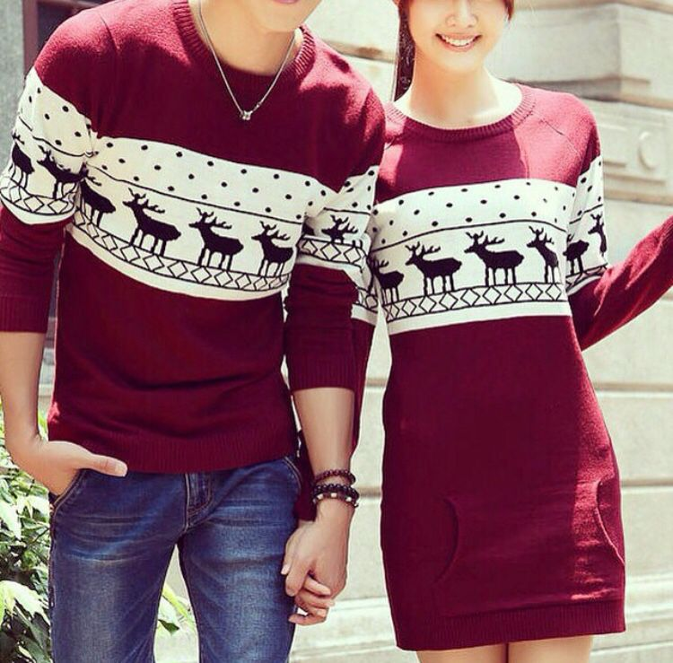 9032f17931 Couple perfect outfits for winter love this sweater Eloowdiief. Couples  Christmas sweaters