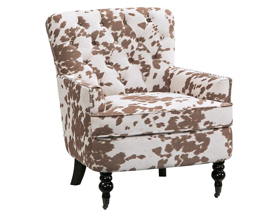 Beautiful Slumberland | Rachel Collection   Faux Cowhide Accent Chair