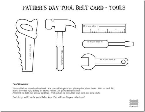 AngelStreetMom ToolBeltCard2of2 Templates Father 39 s day