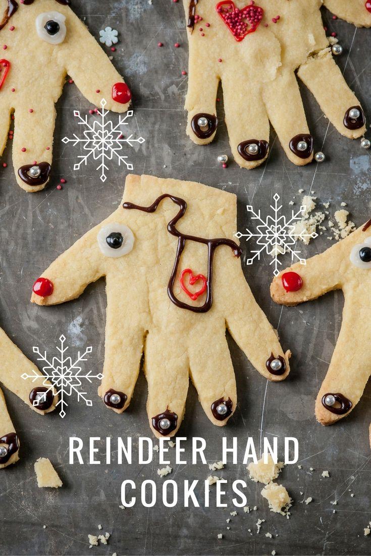 Reindeer Hand Cookies Recipe Christmas Cookies