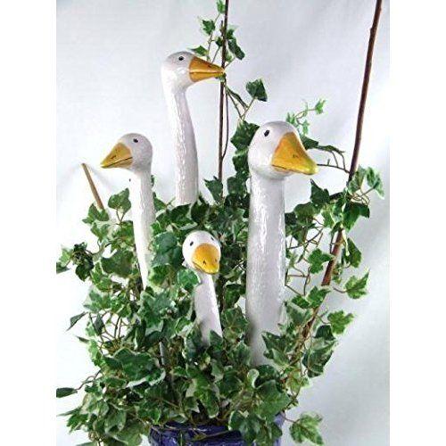 Tangoo Keramik Wichtel in weiß Gartenstecker