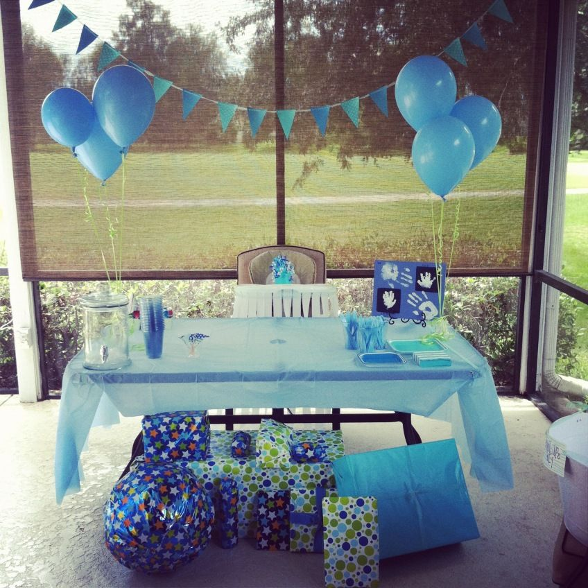Baby Boy Blue first birthday 3 Holidays Parties 3