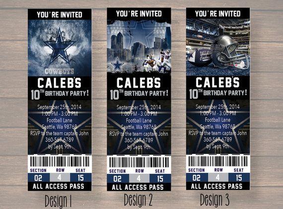 Dallas Cowboy Dallas Cowboy Birthday Invitation by Onthegoprints – Dallas Cowboys Party Invitations