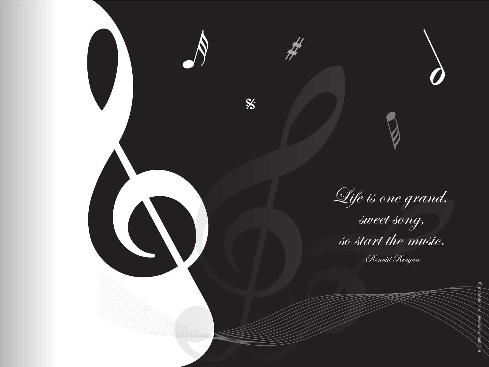 Inspirational Quotes About Music Motivational Wallpaper 32 Quote
