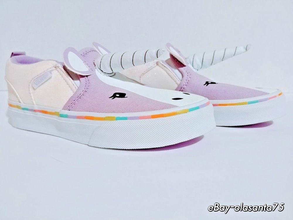 d7c39f6b86 Vans® Slip-On Asher Unicorn Purple Shoes NWOT Girls Youth Kids Sz 12.5 Ship  Free  VANS  Athletic  BacktoSchool