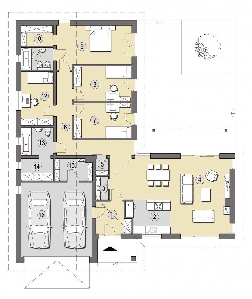 Projekt Ponza Słoneczne Domy L Shaped Houses Pinterest
