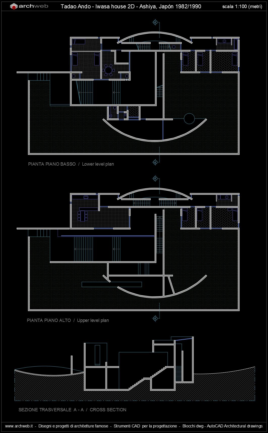 Autocad 3d House Design Software: Iwasa House, Ashiya Japan (1982-1990)