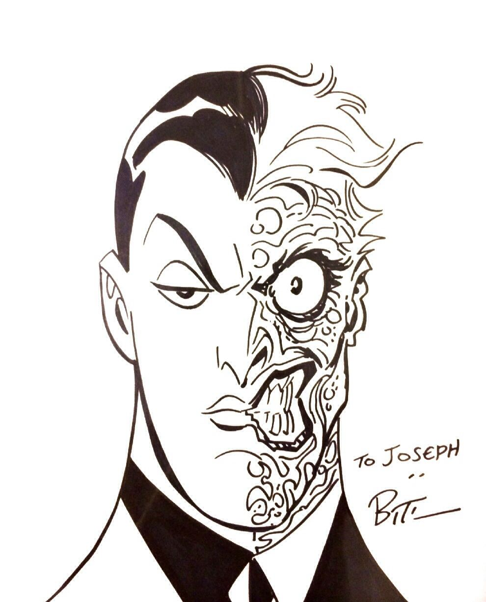 Two-Face Sketch by Bruce Timm
