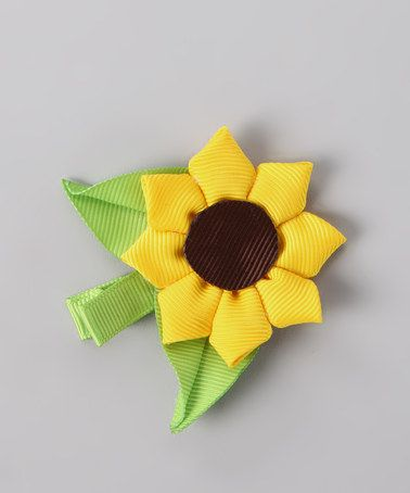 Take a look at this Yellow Sunflower Clip by Festive Fifi on #zulily today!