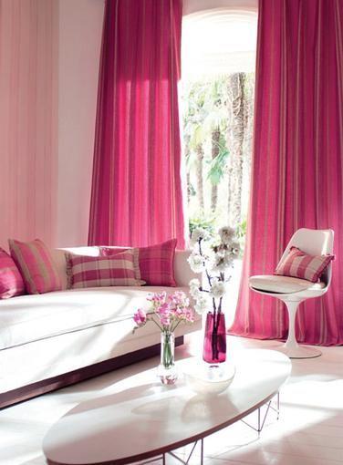 dark pink drapes | Dark pink curtains living room | pink drapes ...