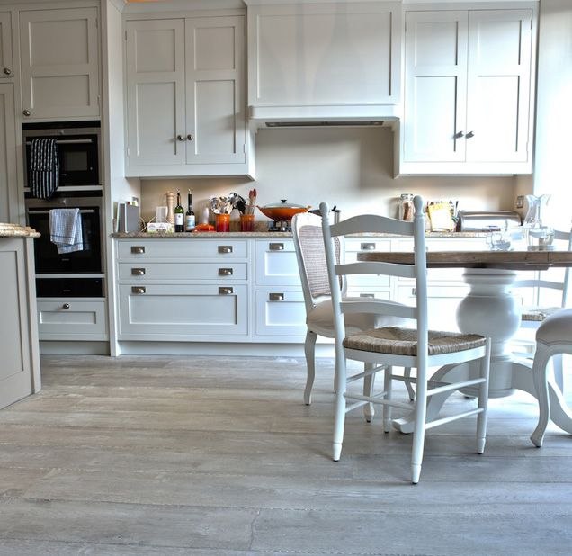 Flooring Trends in 2014 | Increased Color Variation Gray Wood Kitchen Floor  You can use your