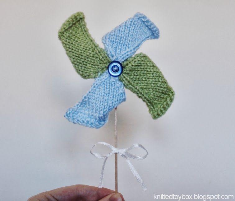 Pinwheel Toy Knitting Pattern - Knitted Toy Box | Knitting ...