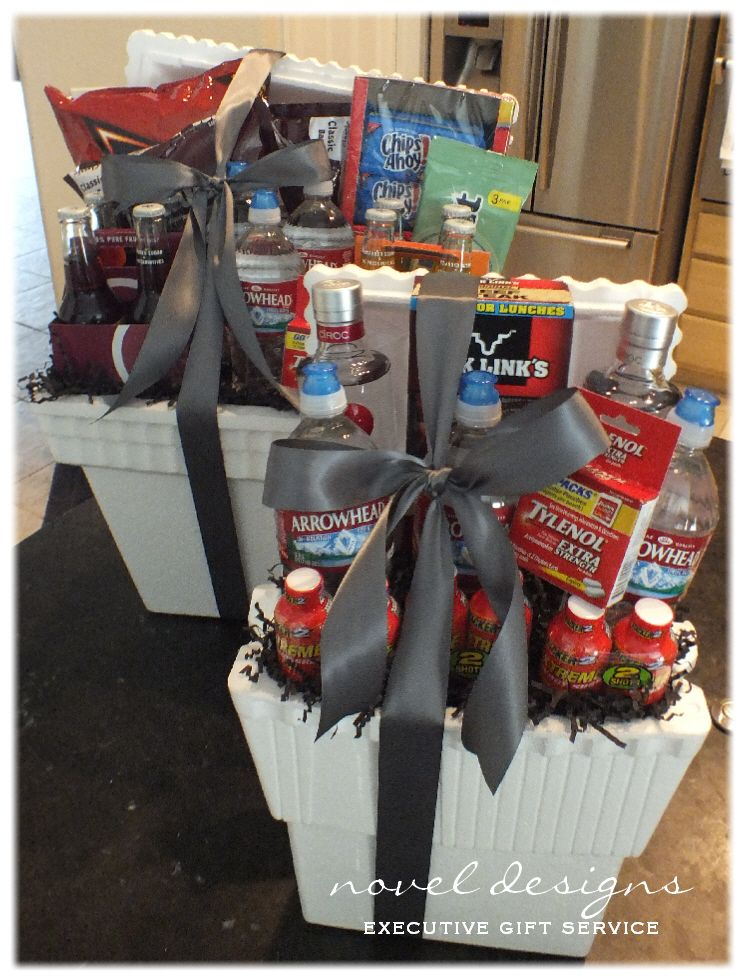 d72e2773d733 Party Cooler Gift Baskets | Gifts | Homemade gift baskets, Gifts ...