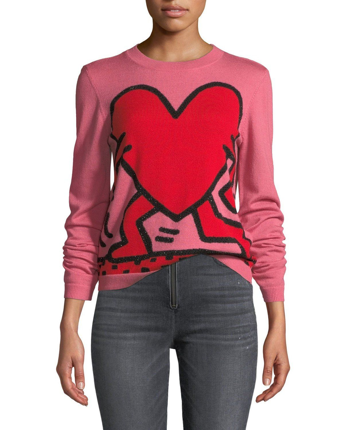 Pullover Haring Alice Olivia Chia Relaxed Crewneck X Intarsia Sweater Keith RROtZ8qx