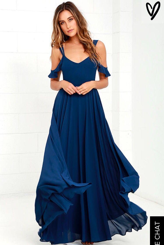 Romantic fantasy navy blue maxi dress dresses i love pinterest