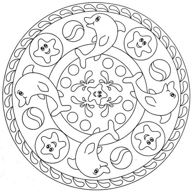 Disegno Da Colorare Per Bambini Tipi Di Mandala Disegni Di