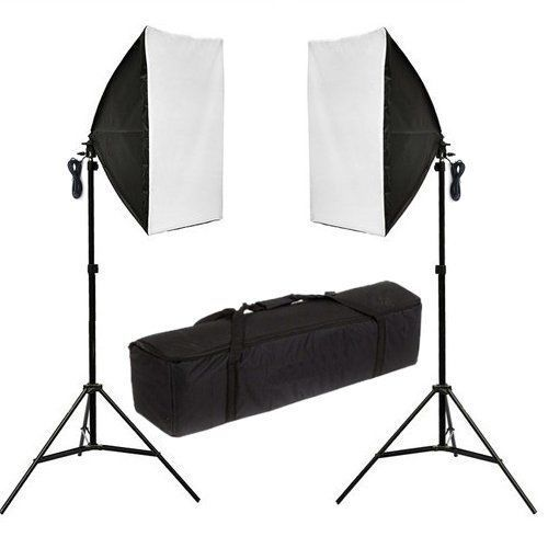 Photography Studio 2X135W Softbox Continuous Lighting Soft Box Light Stand Kit