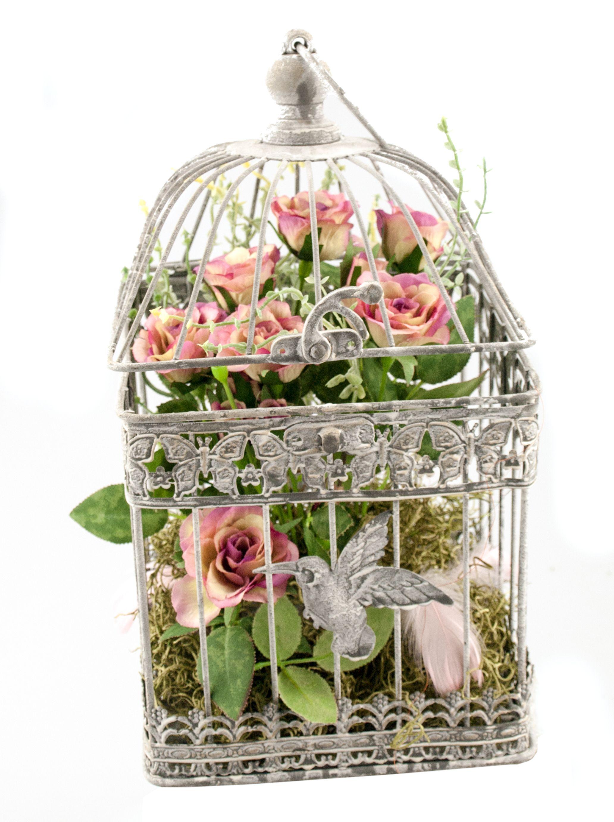 Vogelkäfige Eignen Sich Wunderbar Für Die Dekoration Mit Kunstblumen, Eine  Tolle Idee Für Eure Hochzeitsdeko