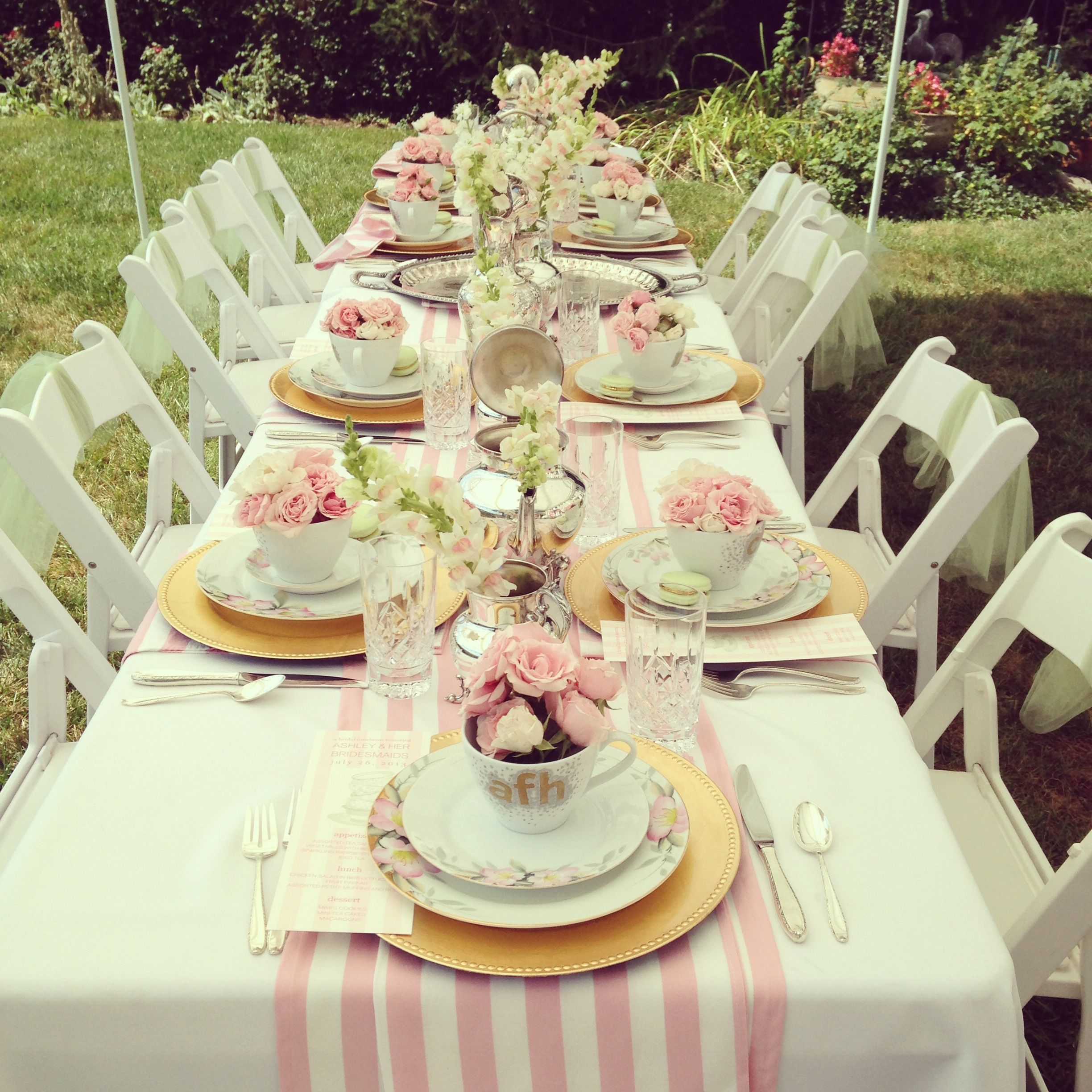 bridesmaids luncheon tabletops that rock tea party. Black Bedroom Furniture Sets. Home Design Ideas