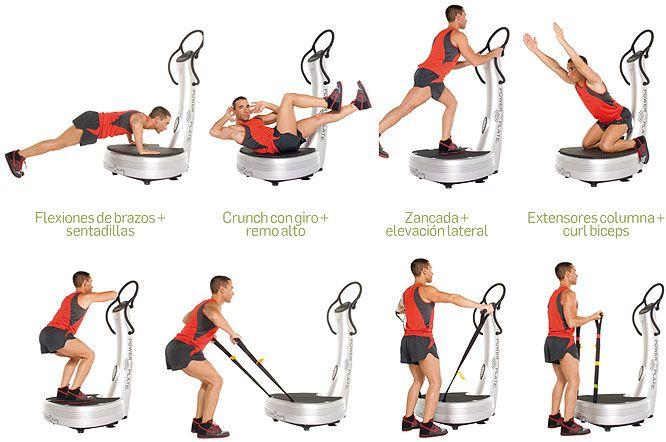 Ejercicios para bajar de peso con plataformas vibratorias for Aparatos de ejercicio