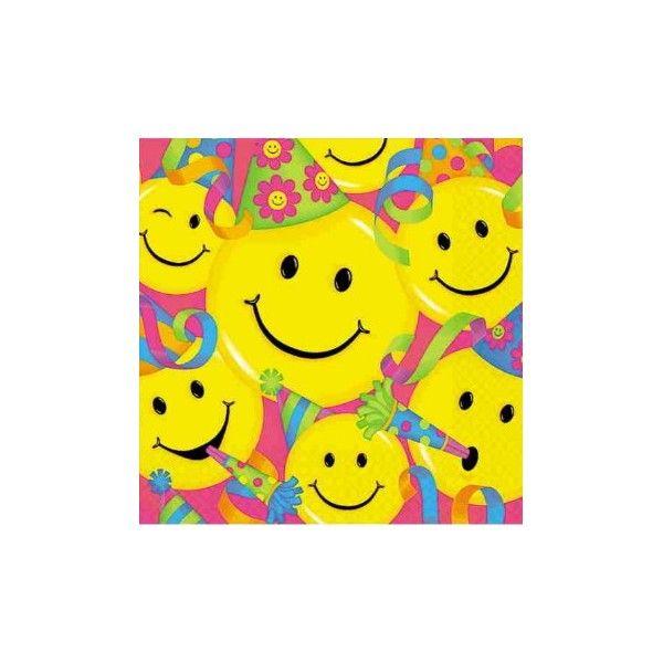 smiley faces smiley face party napkins smileys pinterest rh pinterest com Blue Smiley Face Clip Art Happy Clip Art