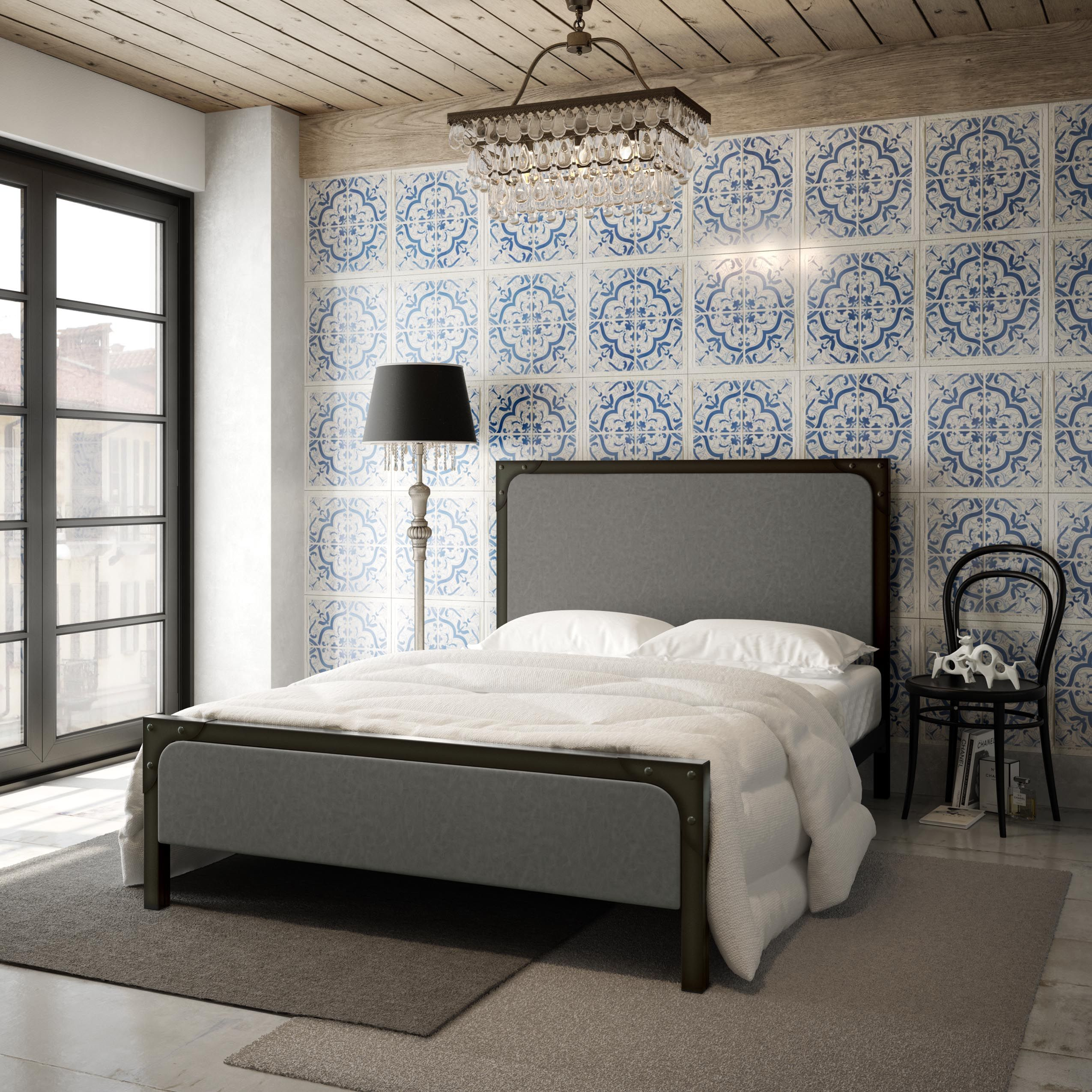 AMISCO - Corsica Bed (12401) - Furniture - Bedroom - Industrial collection - Contemporary - Regular footboard bed