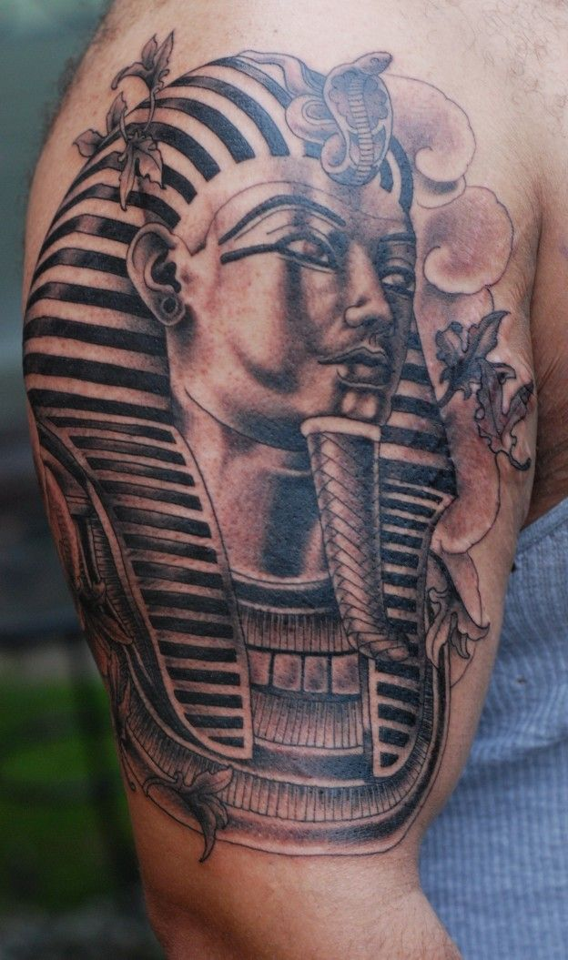 Egyptian Sphinx Tattoo On Shoulder — Ideas and Designs ...