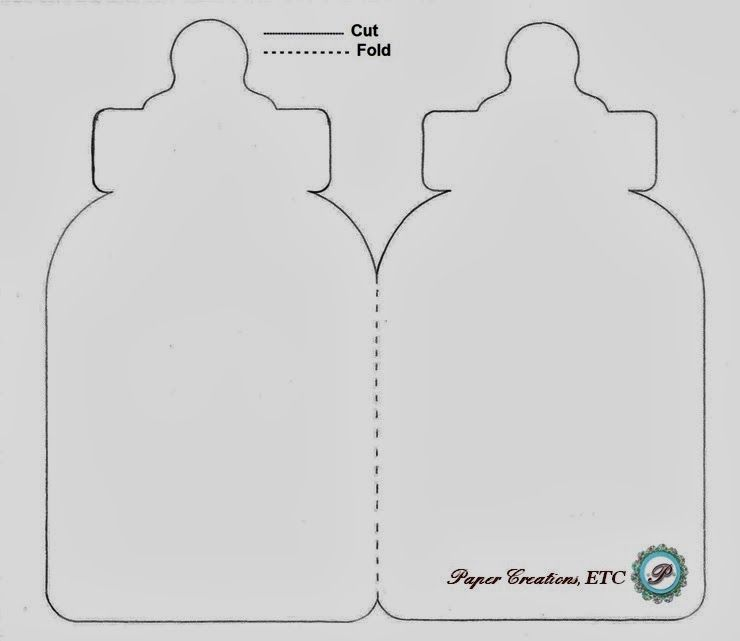 Paper Creations, ETC: Baby Bottle Card - Free Template | Mønster ...