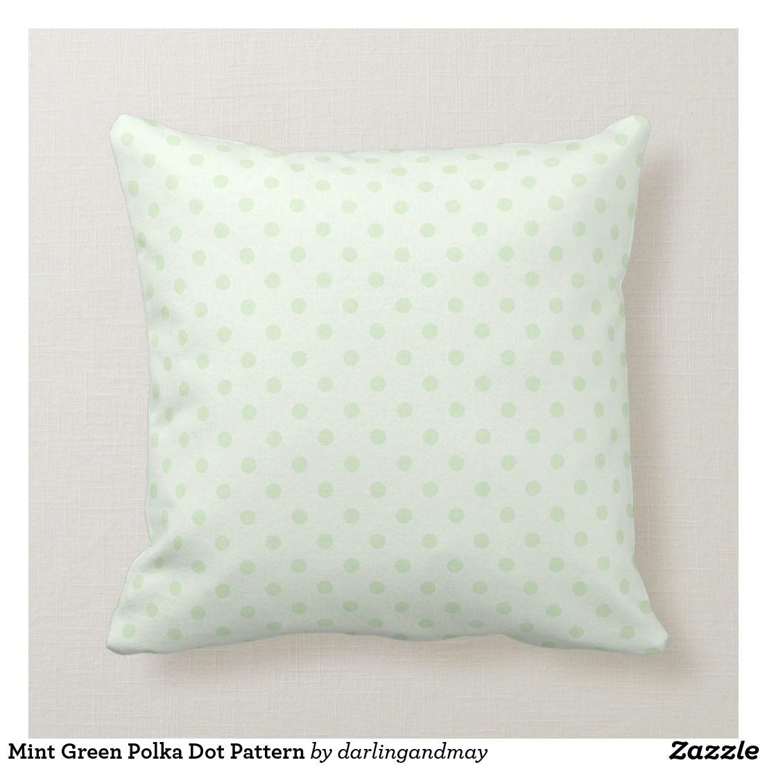 Cool Mint Green Polka Dot Pattern Throw Pillow Zazzle Com Machost Co Dining Chair Design Ideas Machostcouk