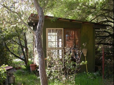 this could be my hideout! Build a shed around discarded full ...