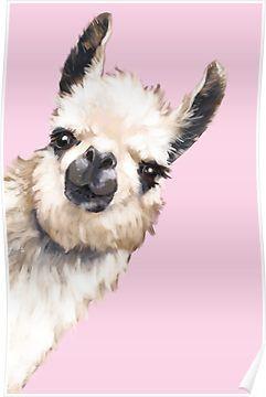 'Sneaky Llama' Poster by bignosework
