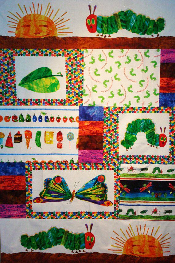 The Very Hungry Caterpillar Quilt Kit fabric by Eric Carle | Eric ... : caterpillar quilt pattern - Adamdwight.com