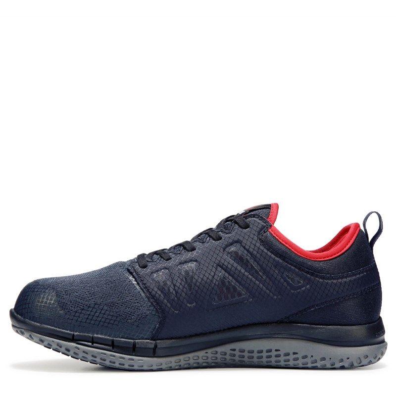 6d26e1d19cc Reebok Work Men s Z Print 3D Medium Wide Steel Toe Work Sneakers (Navy)