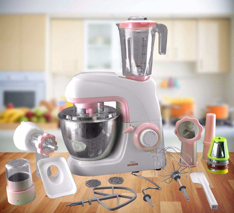 luxurise kchenmaschine 3 in 1 mit standmixer knetmaschine und fleischwolf rusa - Kuche In Pink