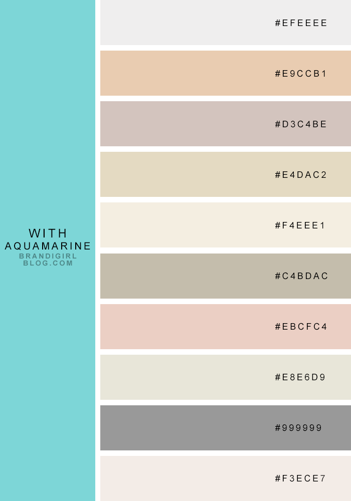 Neutrals Colors favorite quasi-neutrals - 2 aquamarine | design - colour schemes