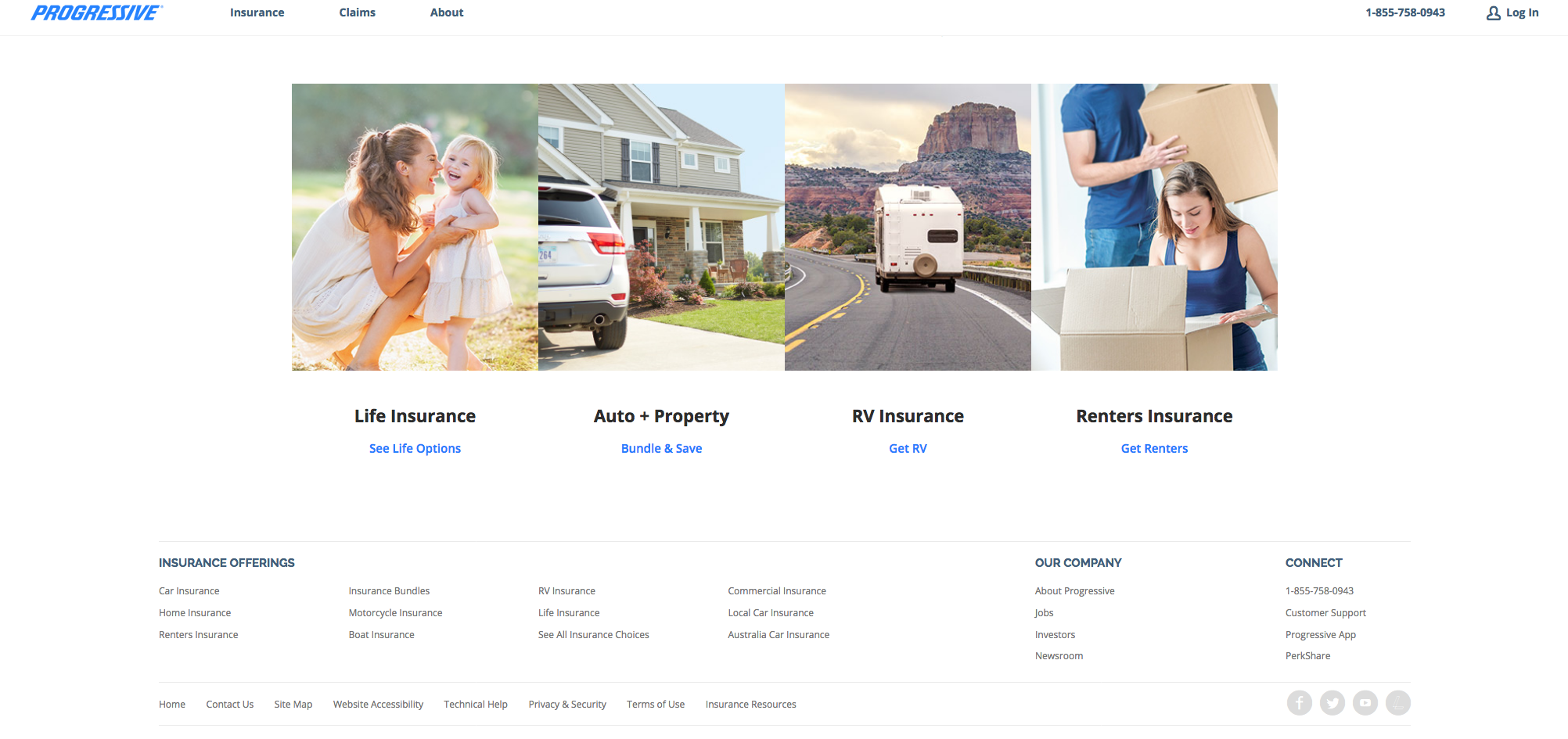 Footer. Progressive | Renters insurance, Renter, Polaroid film